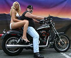 Ken Lindburg on a Harley